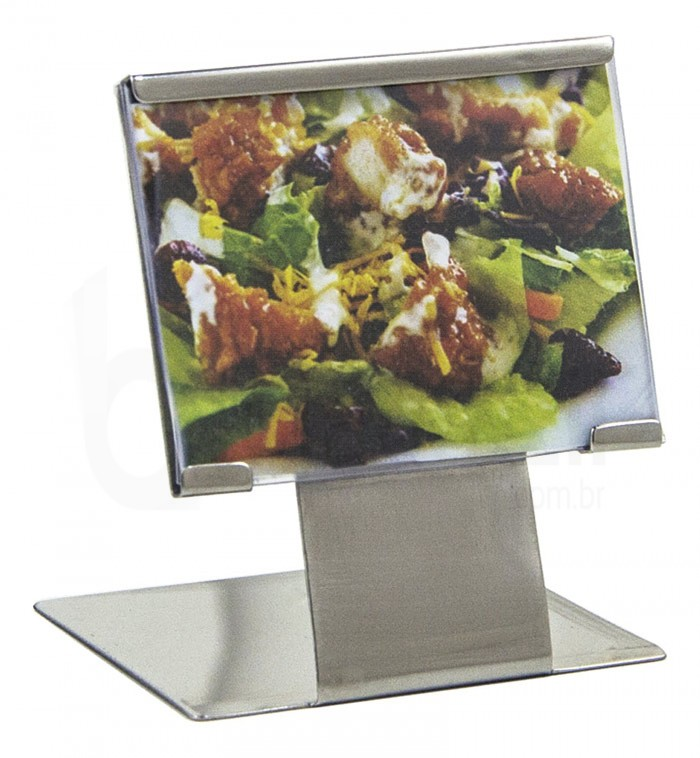 Porta Menu / Mini Display Aço Inox (56 x 45 x 45mm)- Allissan Inox (600298)